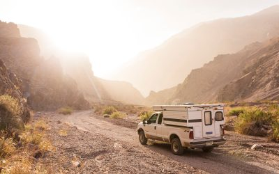 Camping below sea level in Death Valley National Park